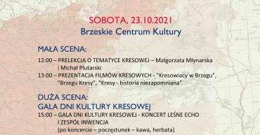 Plakat przedstawiający program Dni Kultury Kresowej 2021